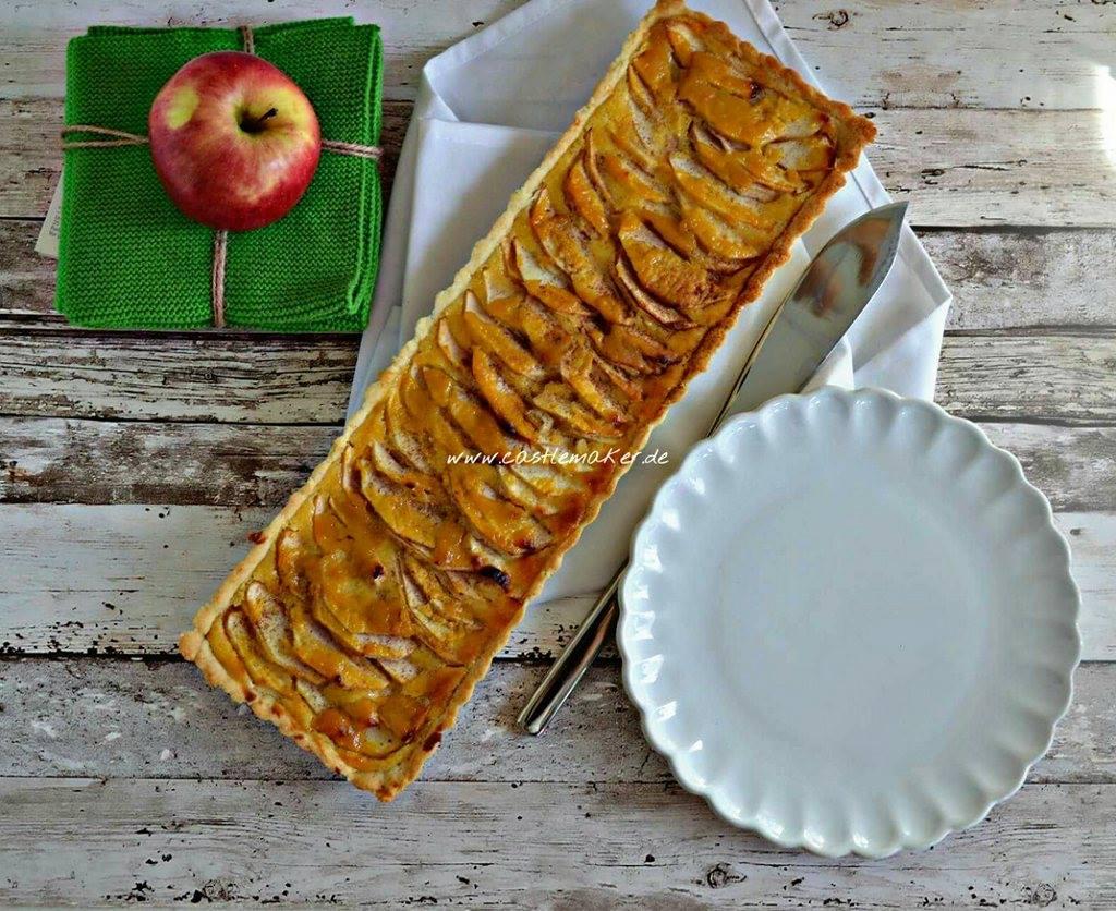 Apfel-Tarte Apfelkuchen Backen Foodblog Backblog 1