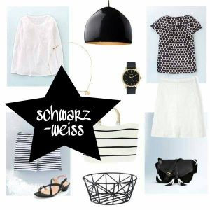 Sommeroutfit schwarz-weiß fashion mode outfit