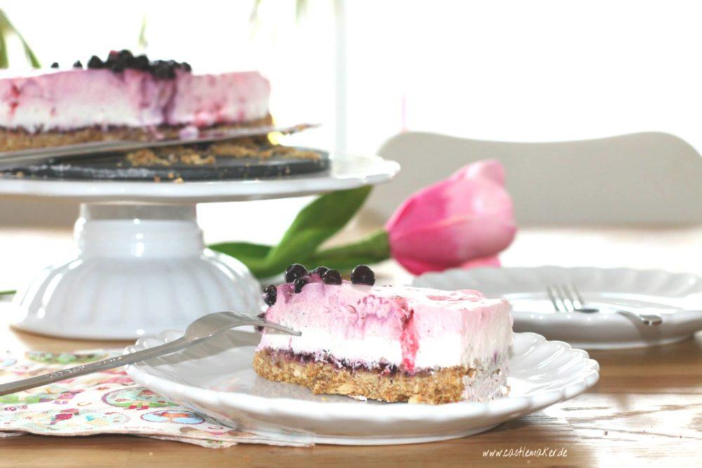 Sommertorte ohne Backen Kühlschranktorte no bake Torte Foodblog Kuchen Beerentorte