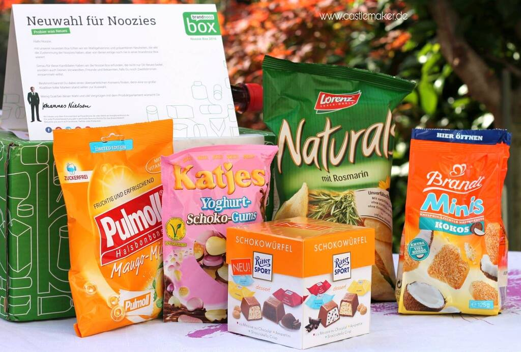 Noozie Box brandnooz Inhalt Foodbox Genuss Lifestyle Influencer