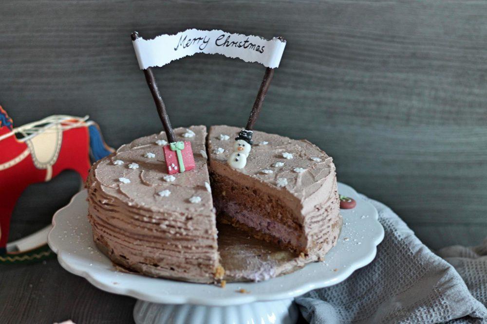 schokotorte spekulatiusboden schokoladenkuchen crème double blogparade foodblogger backen kuchen weihnachtstorte