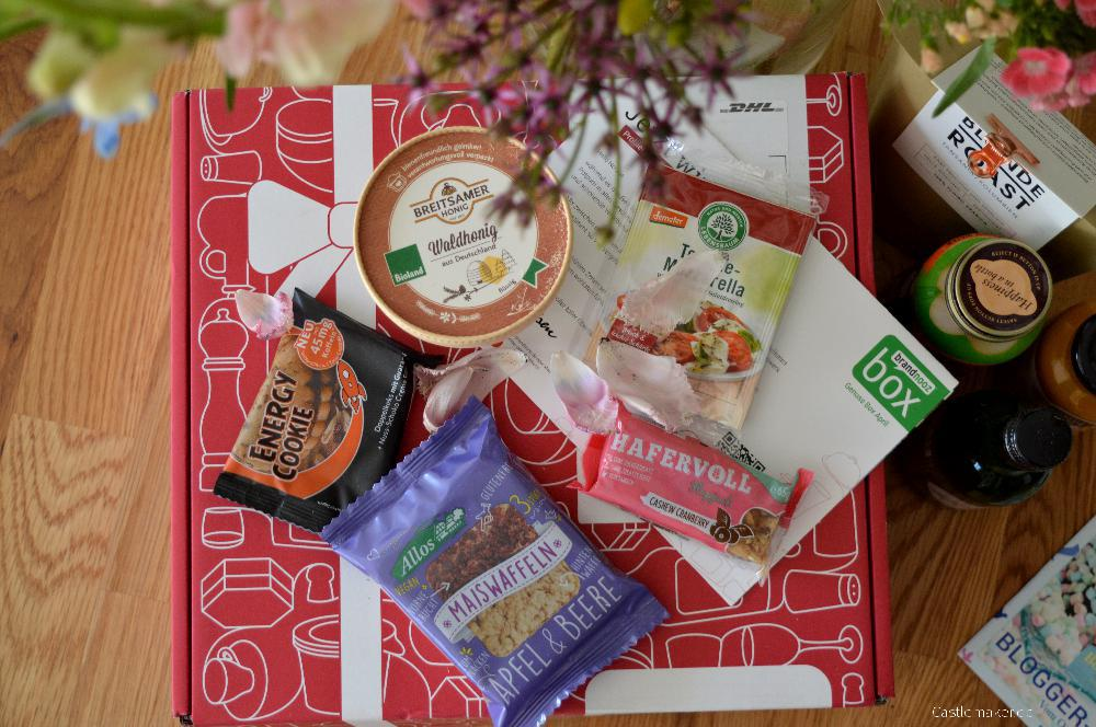 brandnooz genussbox april 2017 goodnooz maerz unboxing lifestyle-blog castlemaker foodblog aus lahr