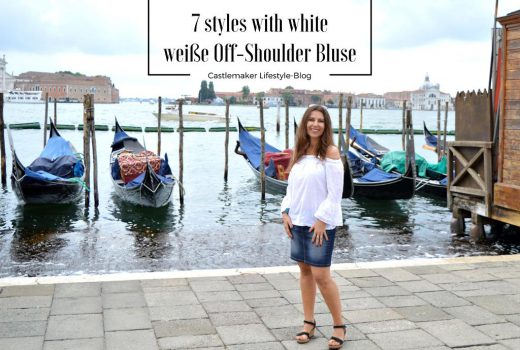 weiße off-shoulder bluse