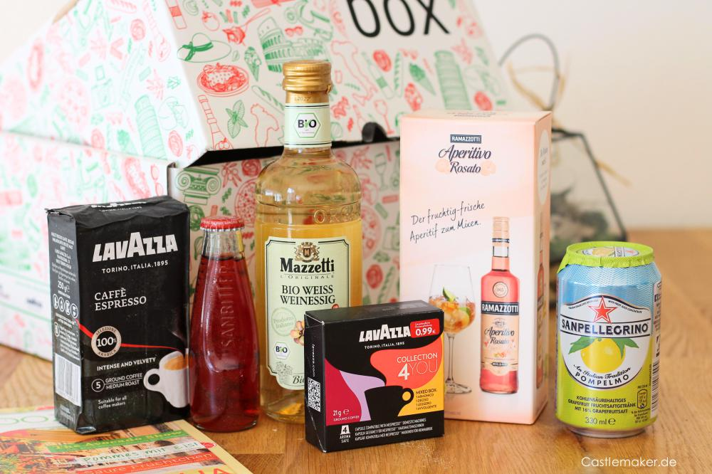 brandnooz box bella italia unboxing inhalt foodbox lifestyle-blog castlemaker