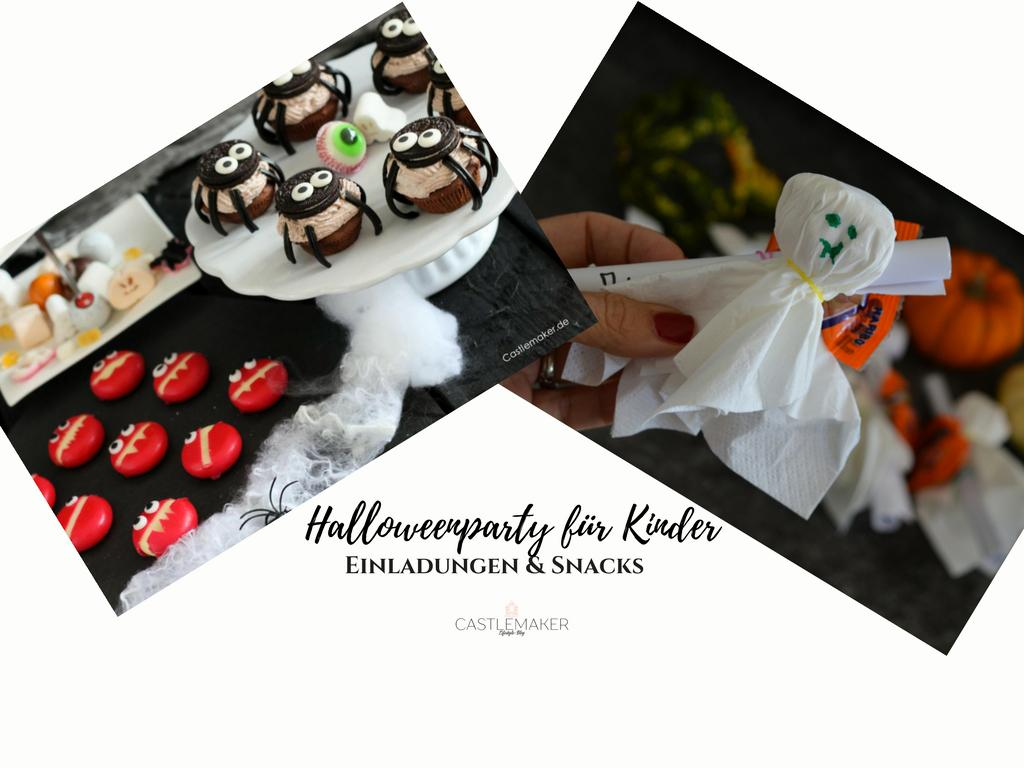 Halloweenparty für Kinder – Einladungen, Snacks & Co