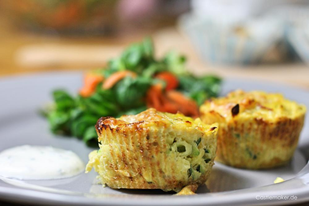 Kartoffel-Muffins, Feldsalat und Himbeercreme - Kochen mit Kindern und EDEKA