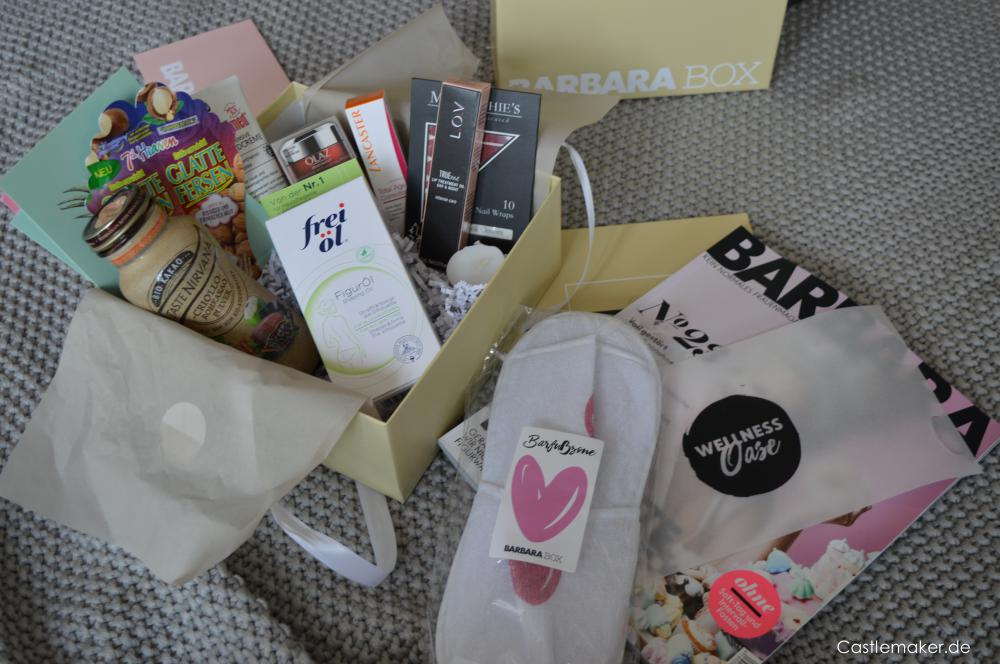 Die Barbara Box 12018 Wellnesswochenende Unboxing Lifestyle-Blog Castlemaker beautybox