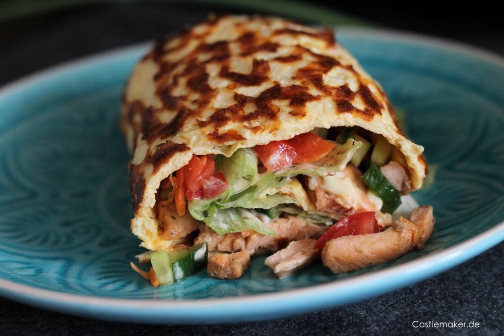 Low Carb Rolle - Big Mac Rolle mit Pute und Lachs - Wrap REZEPT Caslemaker Lifestyle-Blog Foodblog