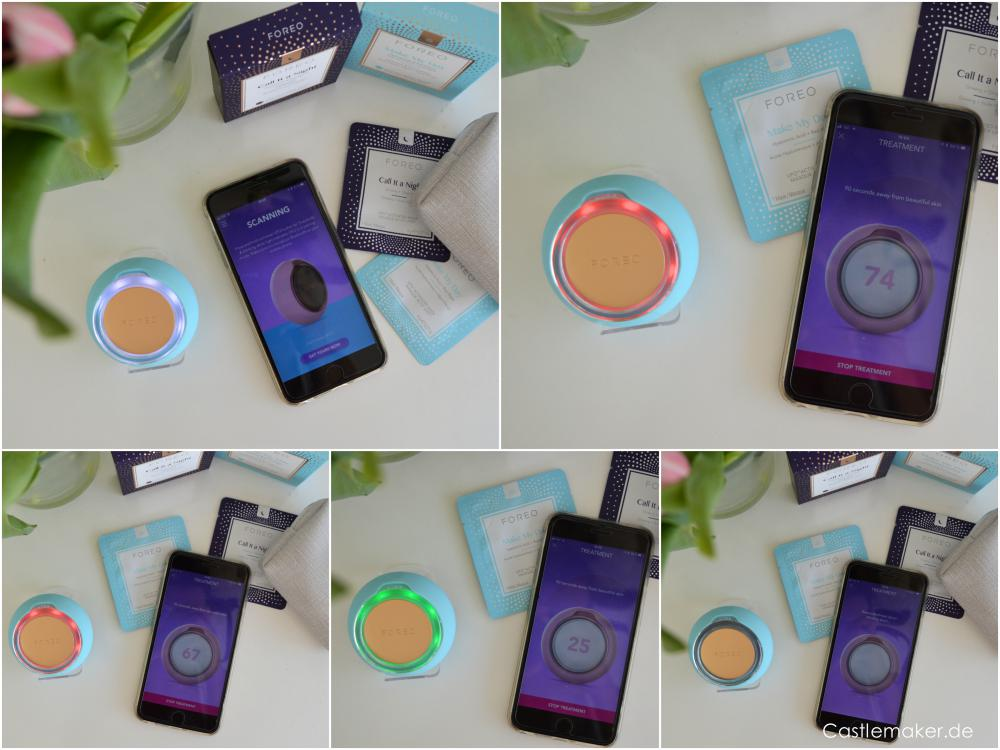 foreo ufo gesichtmaske review mit app castlemaker