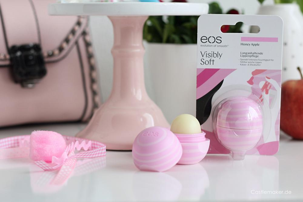 #staysmooth Zarte Lippen mit eos Visibly Soft Honey Apple langanhaltende lippenpflege Castlemaker Lifestyle-Blog