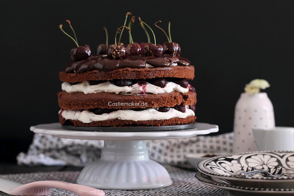rezept naked cake mit kirschen a la schwarzwaelder kirschtorte mit wiener boden und stracciatellacreme Castlemaker Lifestyle-Blog