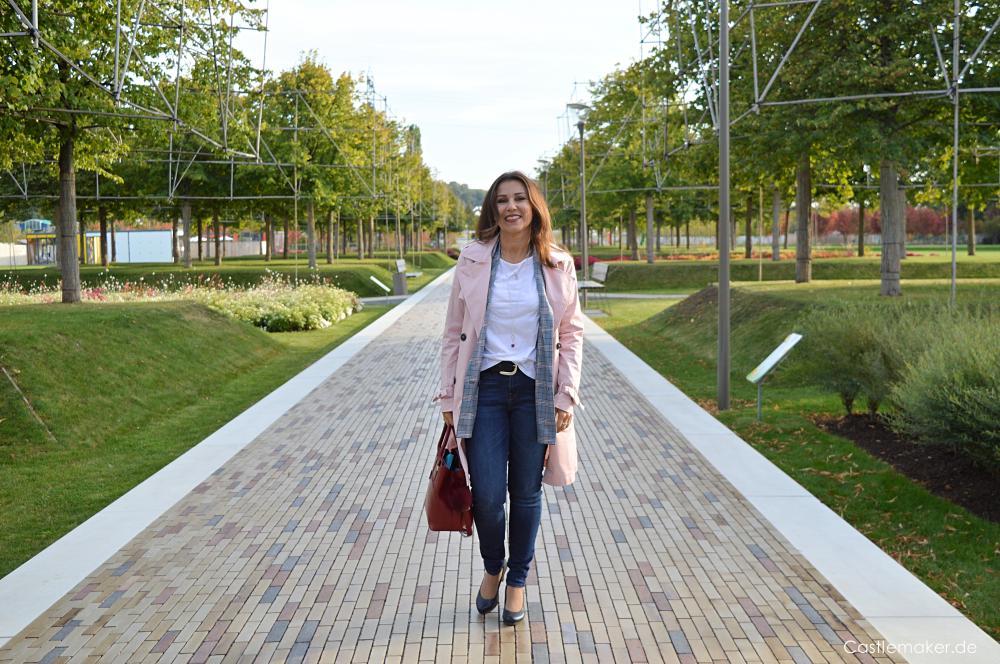 Mit dem Ziebellook durch den Herbst - Karoblazer, Trenchcoat meine Schnäppchen Castlemaker Fashionblog Mode fuer Frauen ab 40