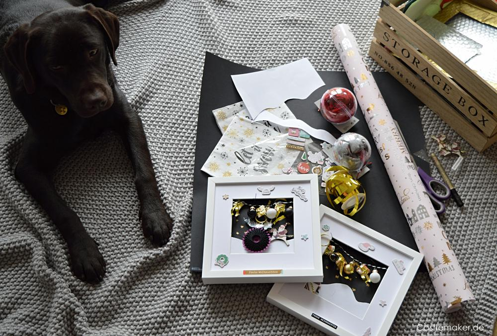 Geldscheine verpacken im Bilderrahmen geldgeschenke geld verschenken DIY Castlemaker Lifestyle-Blog