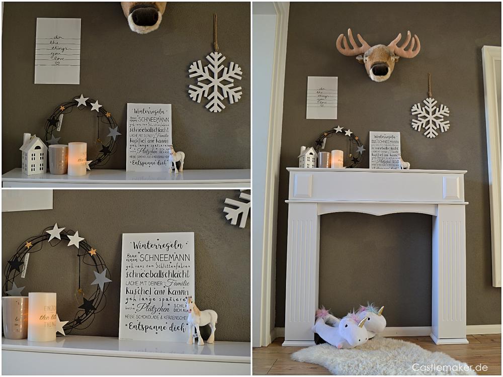 kaminkonsole dekorieren weihnachtsdekoration posterlounge castlmaker lifestyle-blog skandinavic living