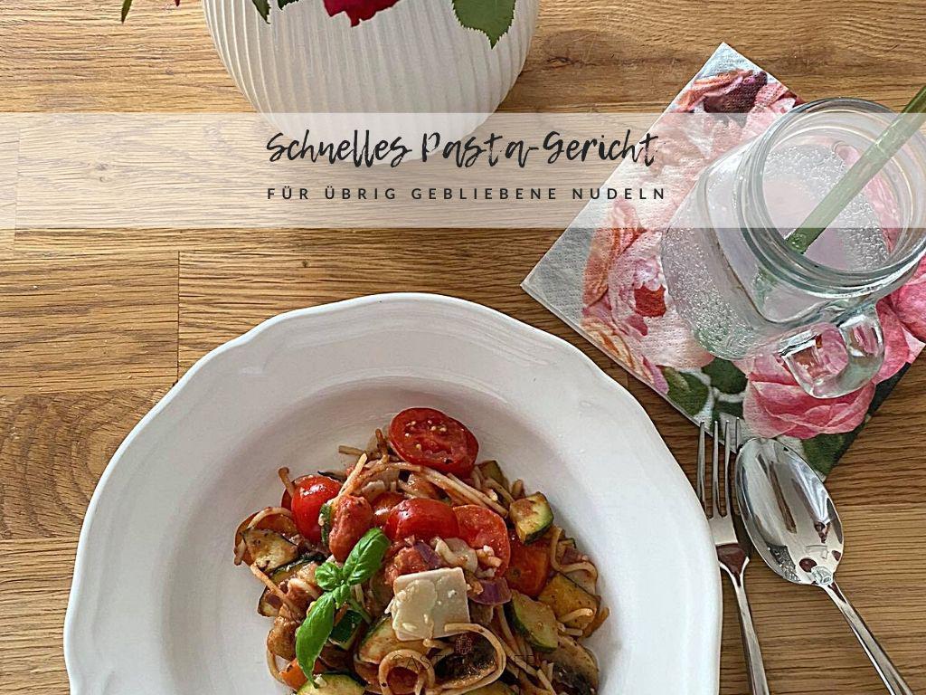 Schnelles vegetarisches Pasta-Rezept für übrig gebliebene Spaghetti « Castlemaker