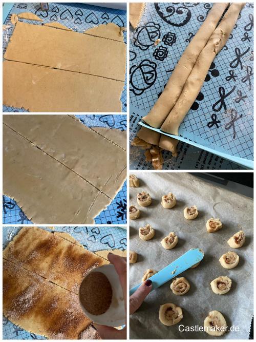 zimtschnecken plaetchen cinnamon rolls cookies castlemaker foodblog