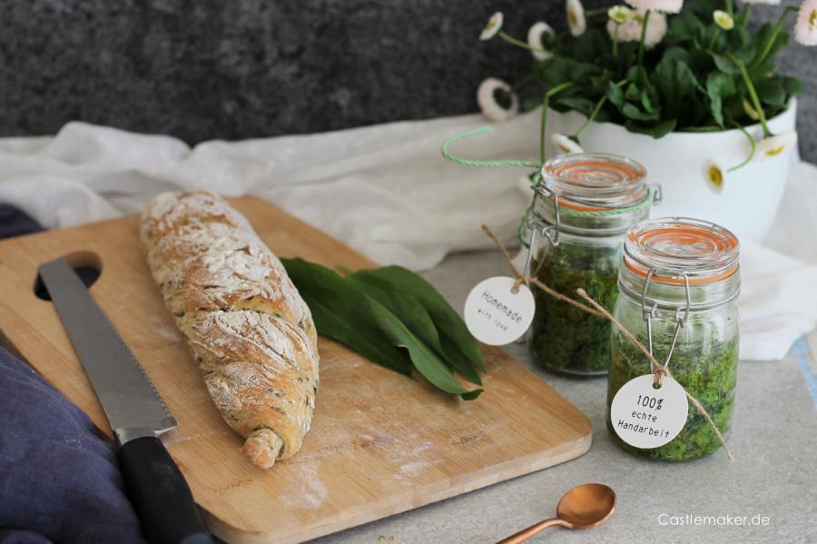 baerlauchrezepte baerlauchpesto baerlauchbaguette foodblogger castlemaker