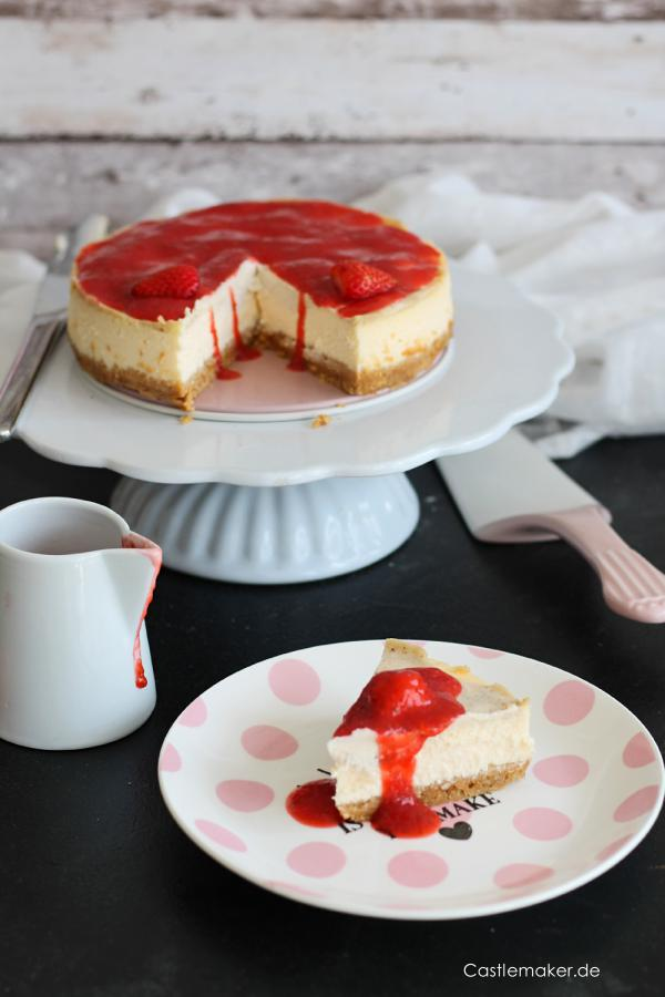 unglaublich cremiger ny new york cheesecake castlemaker foodblog 1
